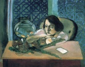 She may be thinking her life is somewhat like theirs. The painting is by Henri Matisse, 1922.